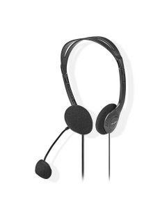 NEDIS CHST100BK PC Headset On-Ear 2x 3.5 mm Connectors 2.0 m Black 233-1551
