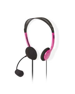 NEDIS CHST100PK PC Headset On-Ear 2x 3.5 mm Connectors 2.0 m Pink 233-1572
