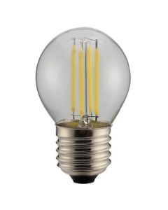ΛΑΜΠΑ LED ΣΦΑΙΡΙΚΗ FILAMENT 4W E27 6500K 220-240V DIMMABLE CLEAR 147-81376