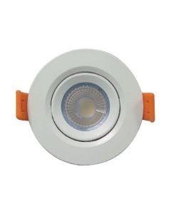 ΣΠΟΤ ΧΩΝΕΥΤΟ LED SMD ΠΛΑΣΤΙΚΟ Φ90 5W 6500K IP20 145-65005
