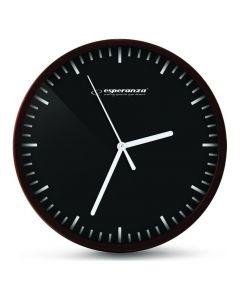 ESPERANZA ρολόι τοίχου Budapest EHC010K, 20cm, μαύρο EHC010K id: 23126