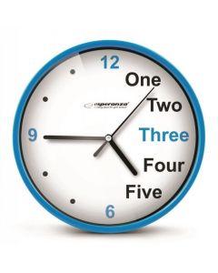 ESPERANZA ρολόι τοίχου Prague EHC014B, 20cm, μπλε EHC014B id: 23125