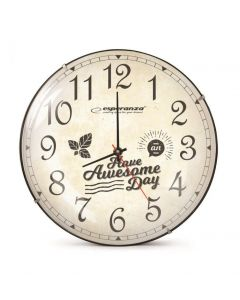 ESPERANZA ρολόι τοίχου Lausanne EHC018L, 30cm, λευκό EHC018L id: 23121
