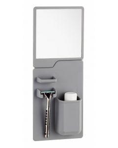 Σετ καθρέπτης και θήκη οδοντόβουρτσας από σιλικόνη TMV-0001, γκρι TMV-0001 id: 26829