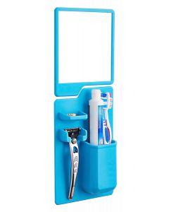Σετ καθρέπτης και θήκη οδοντόβουρτσας από σιλικόνη TMV-0002, μπλε TMV-0002 id: 26830