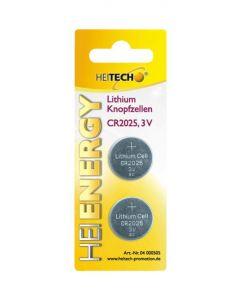 Heitech 04000505 Μπαταρίες λιθίου 2 τμχ CR 2025 150 mAh 3 V 19710-0005