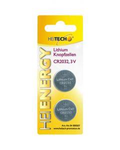 Heitech 04000507 Μπαταρίες λιθίου 2 τμχ CR 2032 210 mAh 3 V 19710-0006