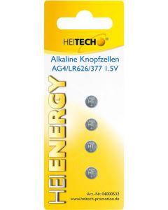 Heitech 04000532 Αλκαλικές μπαταρίες 4 τμχ LR626 19710-0010