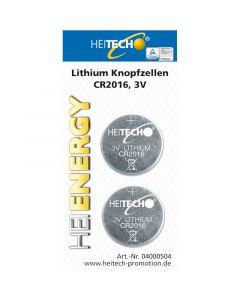 Heitech 04000504 Μπαταρίες λιθίου 2 τμχ CR 2016 75 mAh 3 V 19710-0004