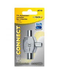 Heitech 09004002 Splitter / Διακλαδωτής ομοαξονικού καλωδίου κεραίας 2 εξόδων 797100-0071