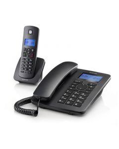 Motorola C4201 COMBO Ενσύρματο και ασύρματο τηλέφωνο σετ 14587-9227