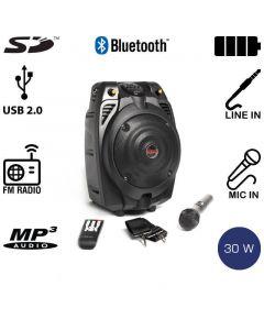 Akai SS022A-X6 Φορητό ηχείο Bluetooth με ενισχυτή, USB και κάρτα SD – 30 W RMS 14882-0226
