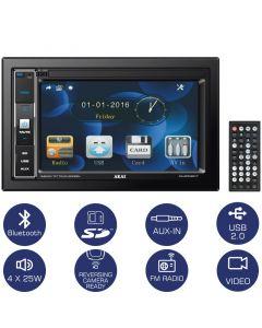 Akai CA-2DIN2217 Ηχοσύστημα αυτοκινήτου 22 DIN με Bluetooth, USB, κάρτα SD και οθόνη 6.2″ 110586-0001