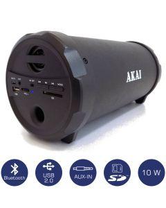 Akai ABTS-12C Φορητό ηχείο Bluetooth με USB, κάρτα SD και Aux-In – 10 W 110582-0007