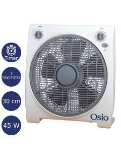 Osio EFB-4020 Box Fan Ανεμιστήρας με χρονόμετρο 30 cm (12″) 45 W 151231-0002