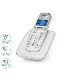 Motorola S3001 WHITE (Ελληνικό Μενού) Ασύρματο τηλέφωνο συμβατό με ακουστικά βαρηκοΐας 14587-9273