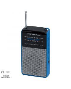 First Austria FA-2314-1-BU Αναλογικό φορητό ραδιόφωνο με υποδοχή ακουστικών 19983-0039
