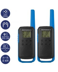 Motorola TALKABOUT T62 Walkie Talkie Μπλε 8 km 14587-0063