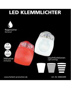 Heitech 04003499 Σετ LED φώτα αδιάβροχα ποδηλάτου λευκό – κόκκινο 197102-0058
