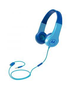 Motorola SQUADS 200 Blue Οn ear παιδικά ακουστικά Hands Free με splitter 14591-0017