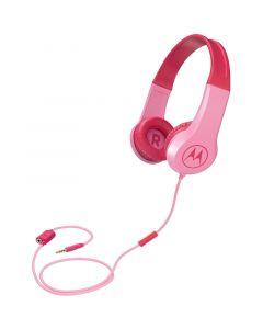 Motorola SQUADS 200 Pink Οn ear παιδικά ακουστικά Hands Free με splitter 14591-0018