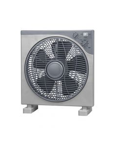 Box Fan, 12 ίντσες (30cm), περιστρεφόμενες γρίλιες, χρονοδιακόπτης, 3 ταχύτητες, 45 Watt - KYT-1201 - Telemax